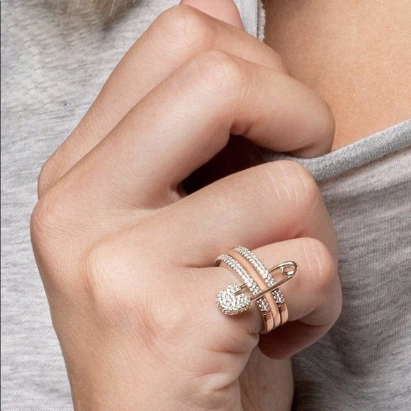 701863823 Jewelry | Tricolored Safety Pin Ring | Poshmark